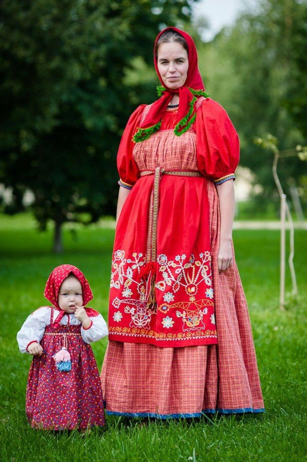 Картинка национальная одежда русских