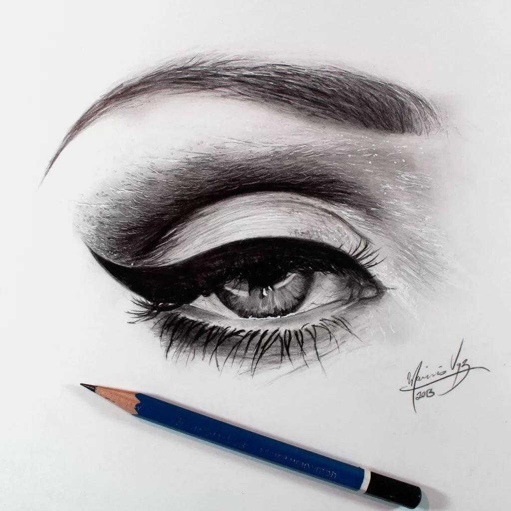 Картинки макияжа глаз для срисовки