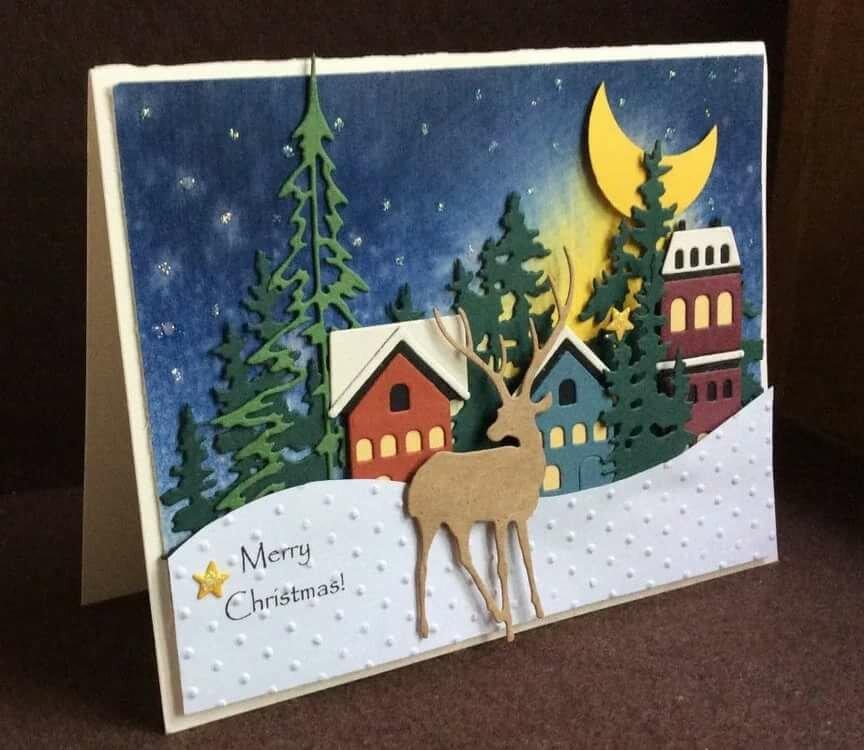 подходит сделать рождественскую открытку своими руками в школу пошагово так надо