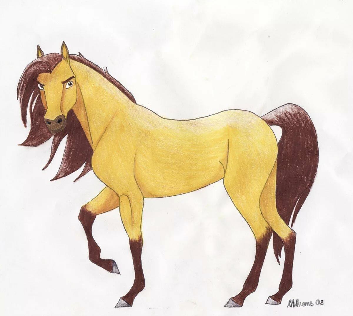 Картинки нарисованных лошадей красивые