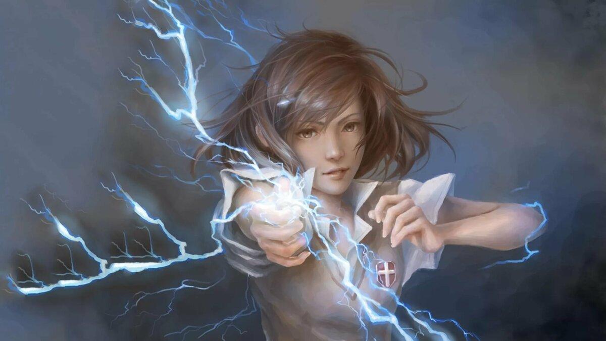 Аниме девушки с магией молнии