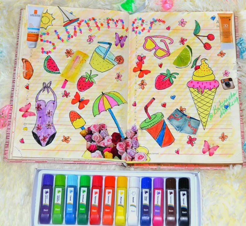 маленькими картинки идеи для личного дневника лето сад будет