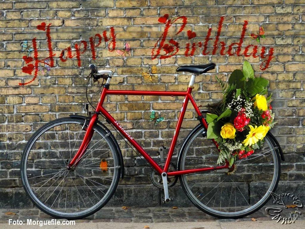 Поздравить велосипедиста с днем рождения
