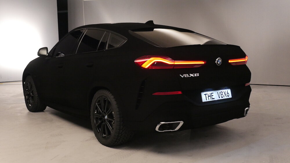 New BMW X6 As A Spectacular Show Car – World's First Vehicle in VantaBlack