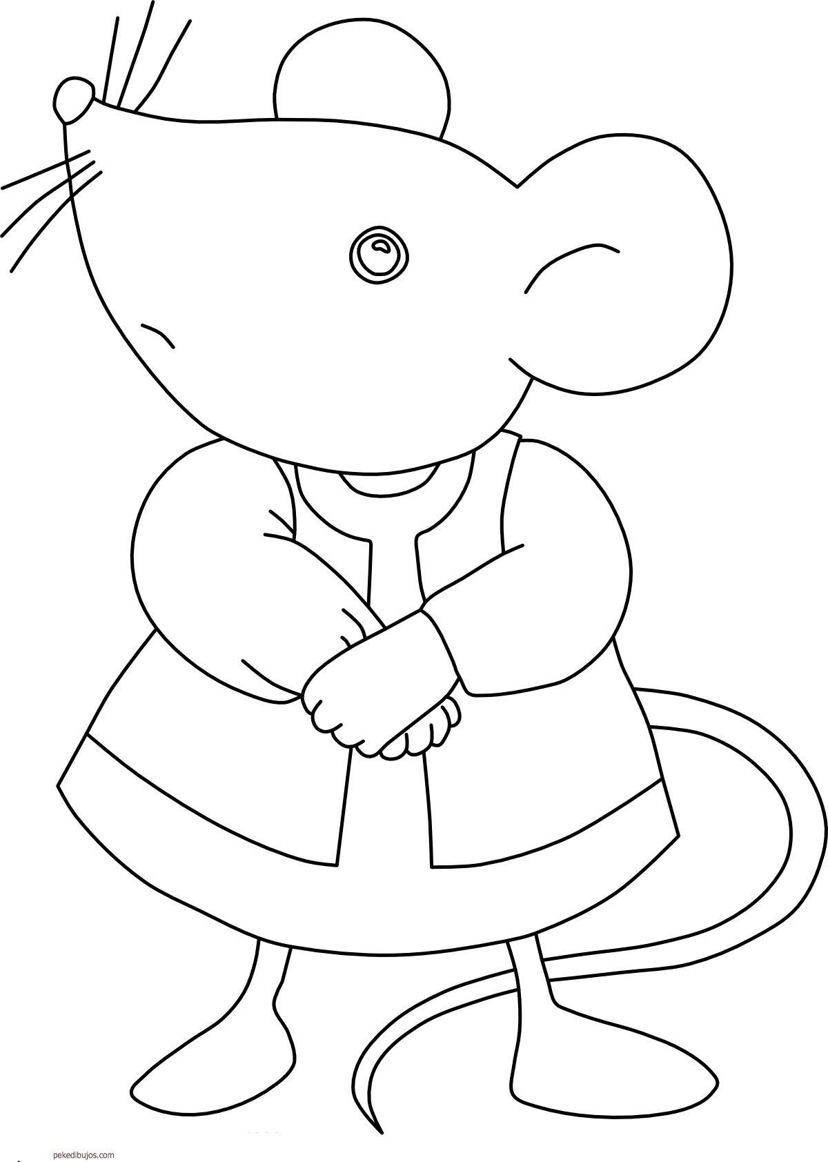 Картинка контур мышка