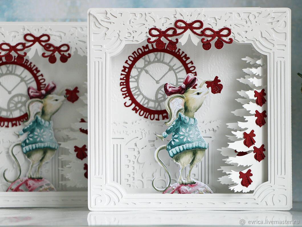 Новогодние открытки ярмарка мастеров