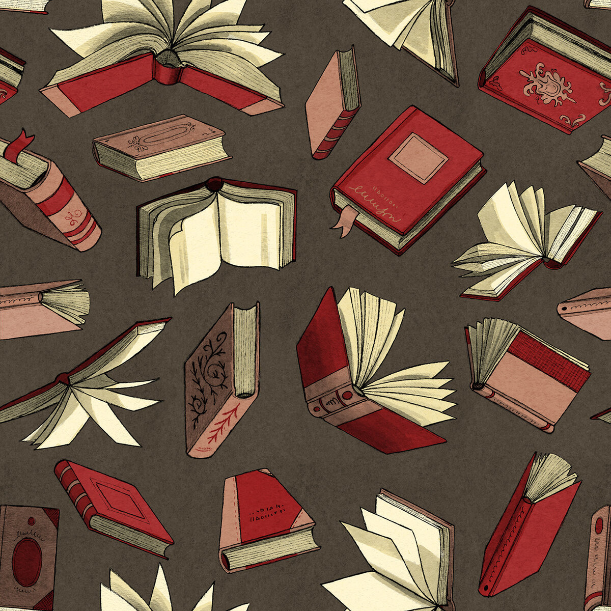 картинки падающей книги качестве материалов для