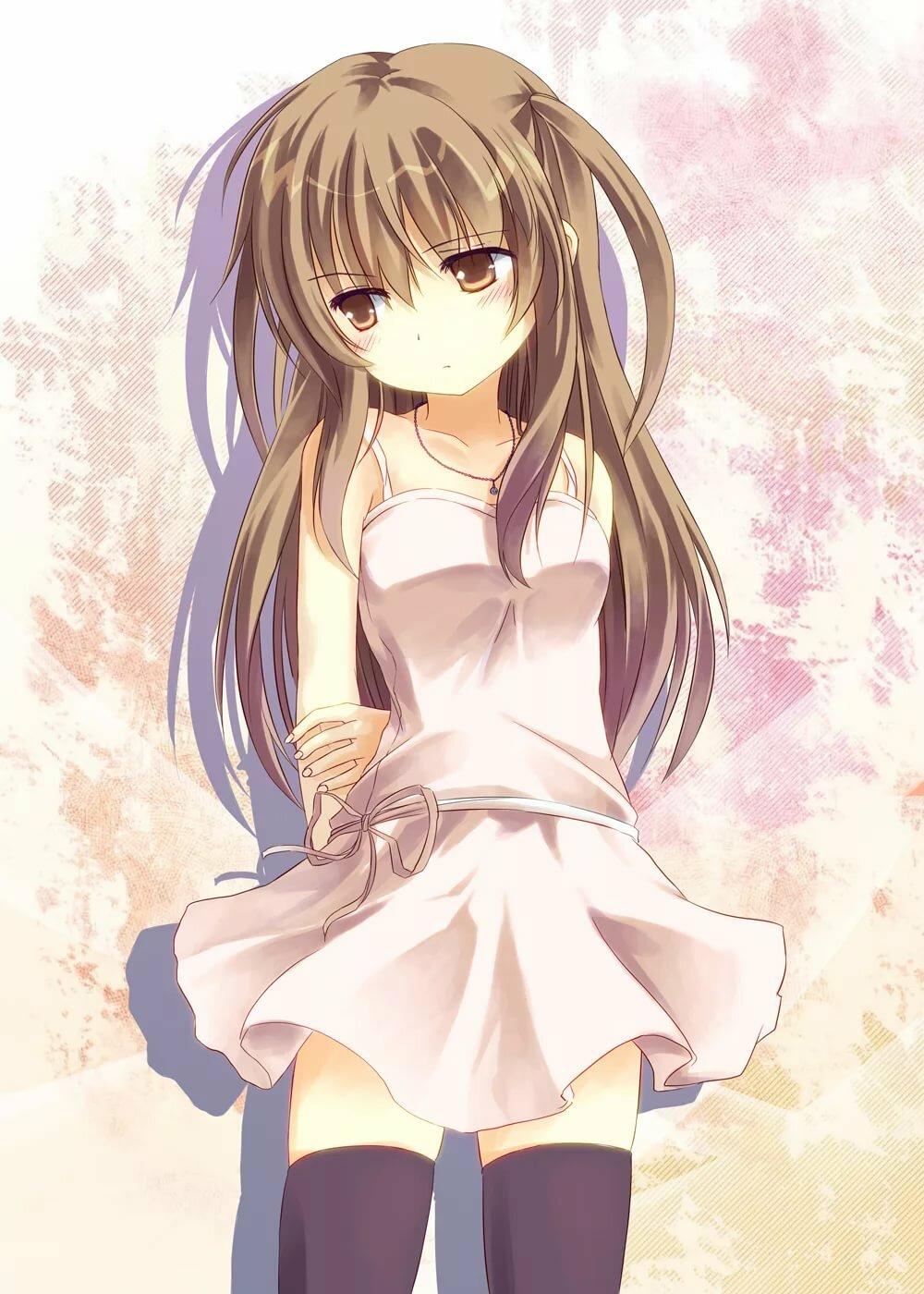 Девушка аниме с русыми волосами картинки