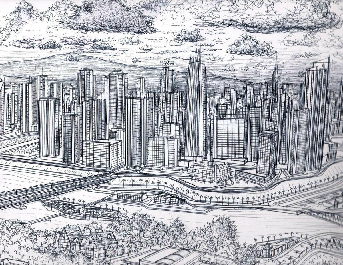Картинки эскиз города