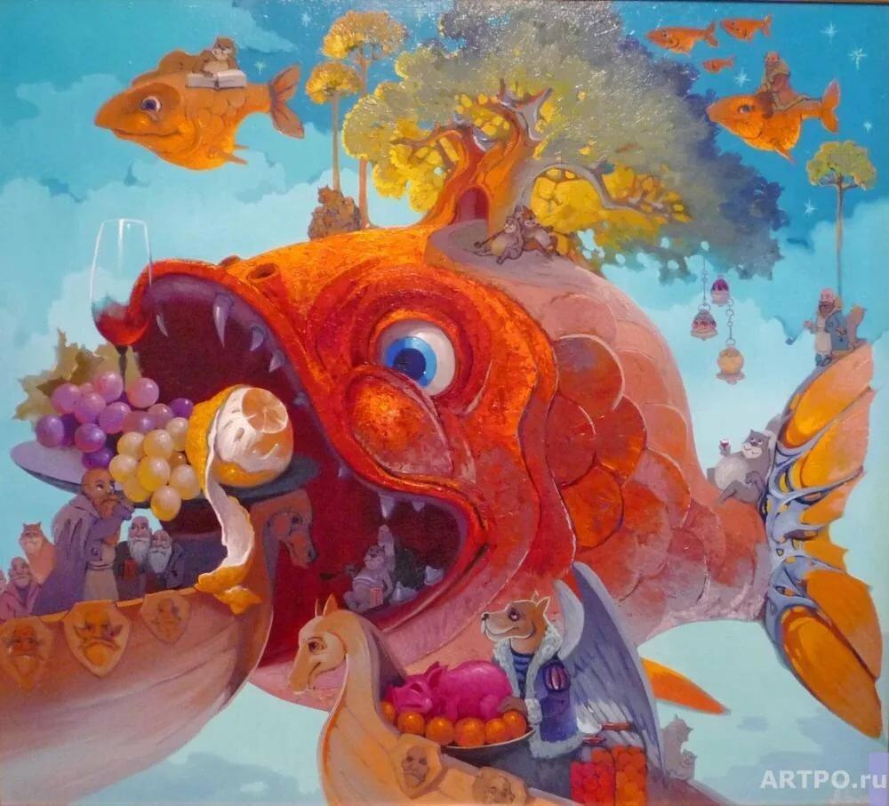 картинки рыба художника фото