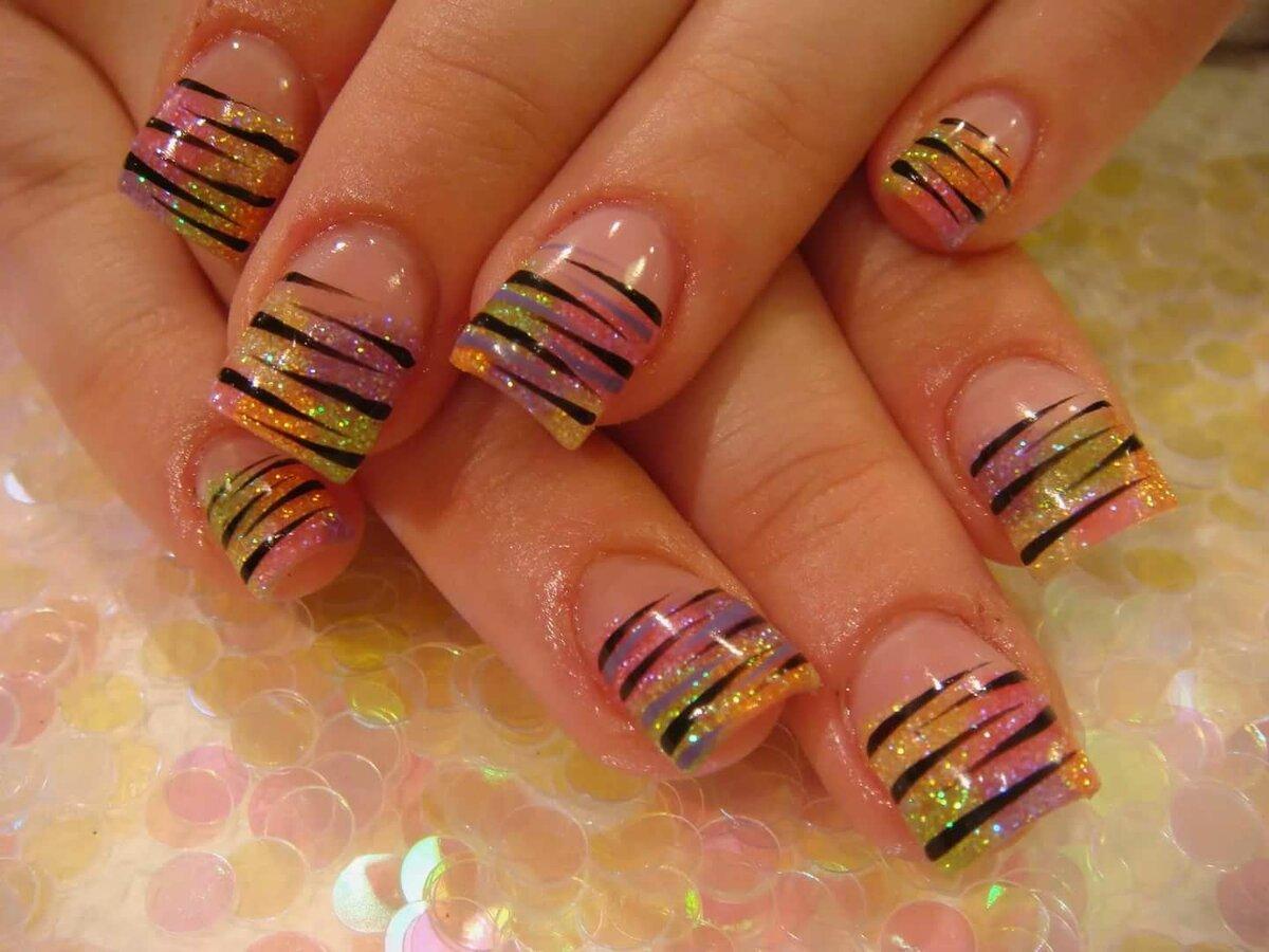 Рисунки на гелевых ногтях фото