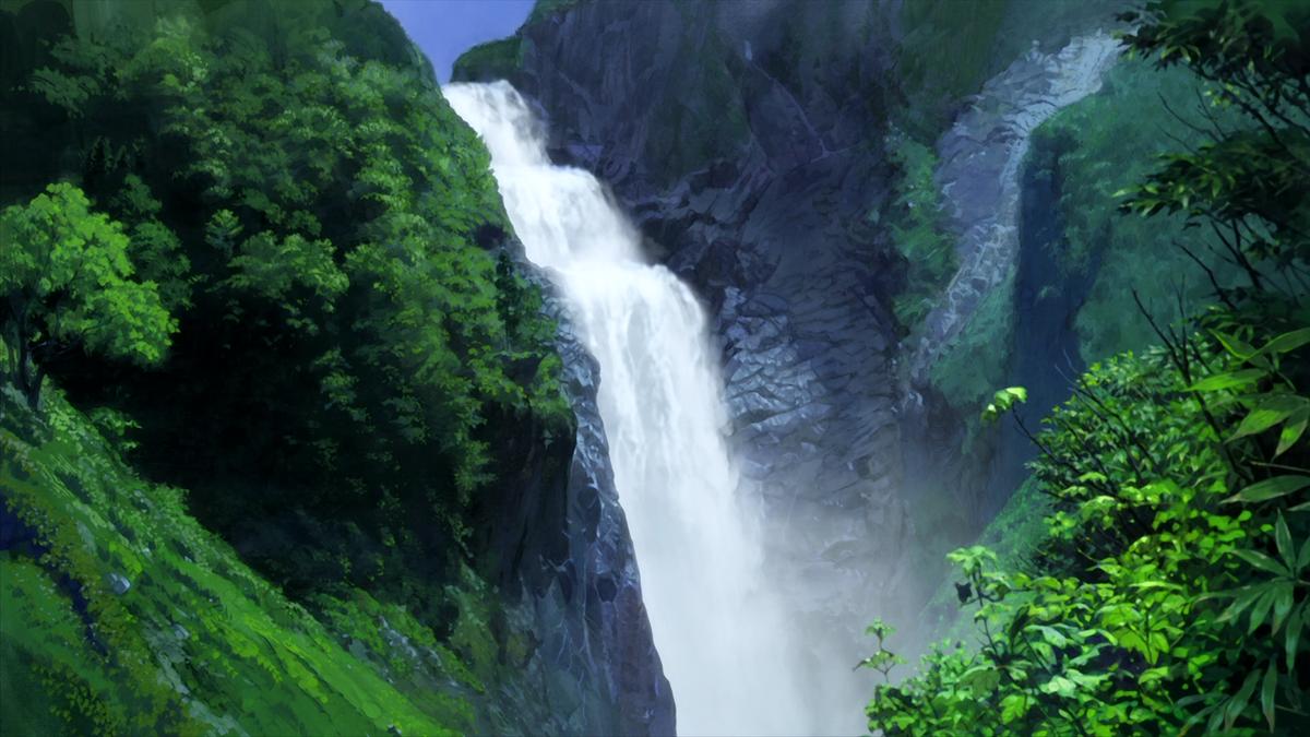 Гиф картинки водопад
