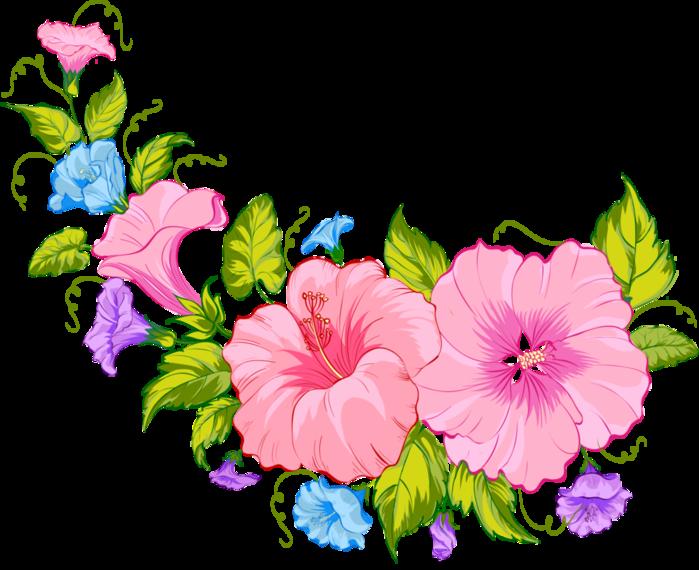 Картинка цветов рисованых