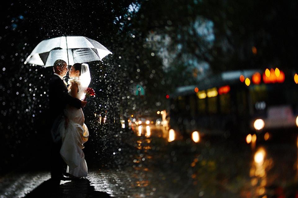фотосессии в дождь одному том