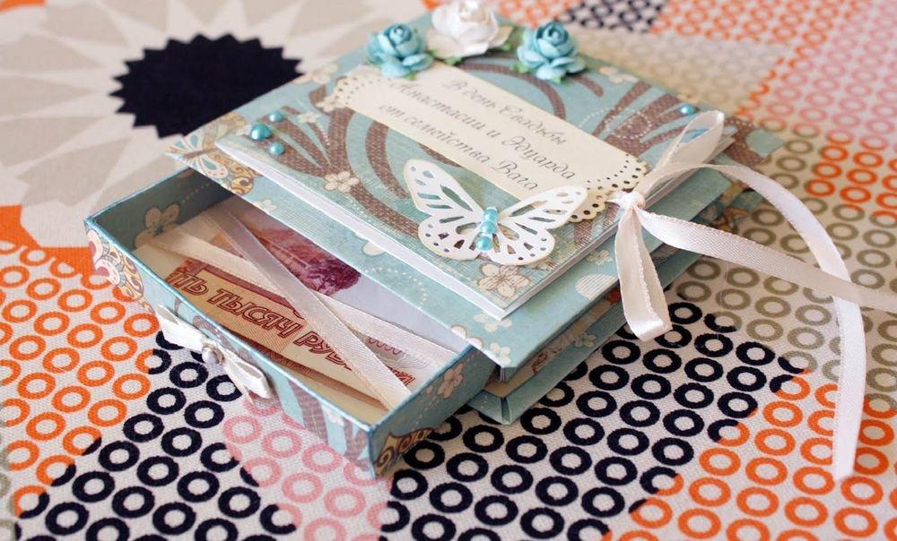 Креативная открытка для денег, дню рождения розы