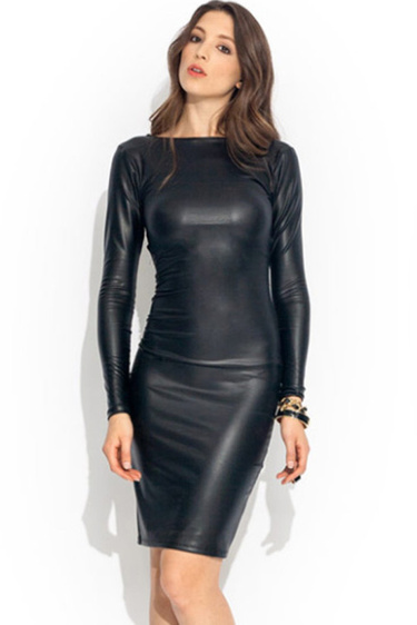 8952bd101c9 28 карточек в коллекции «Женское кожаное платье с длинными рукавами»  пользователя veruldij в Яндекс.Коллекциях