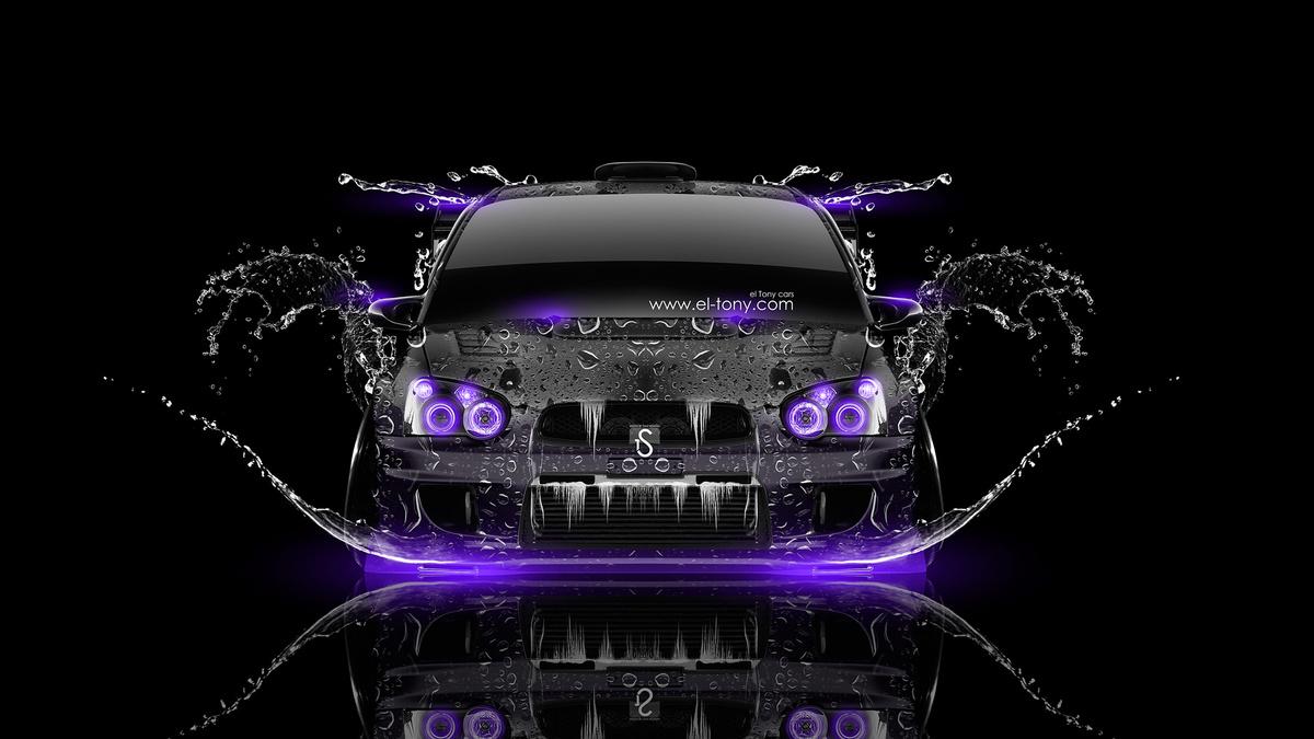 Subaru Impreza WRX STI JDM Front Water Car