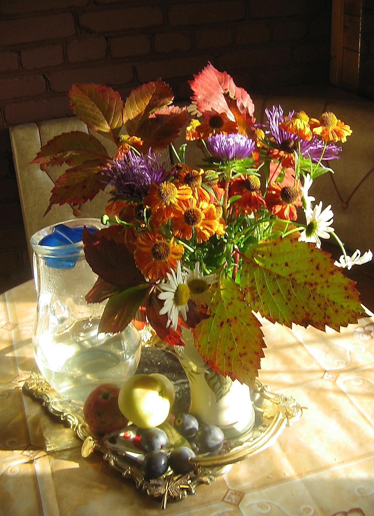 Колой, осенние букеты и композиции на тему цветик семицветик