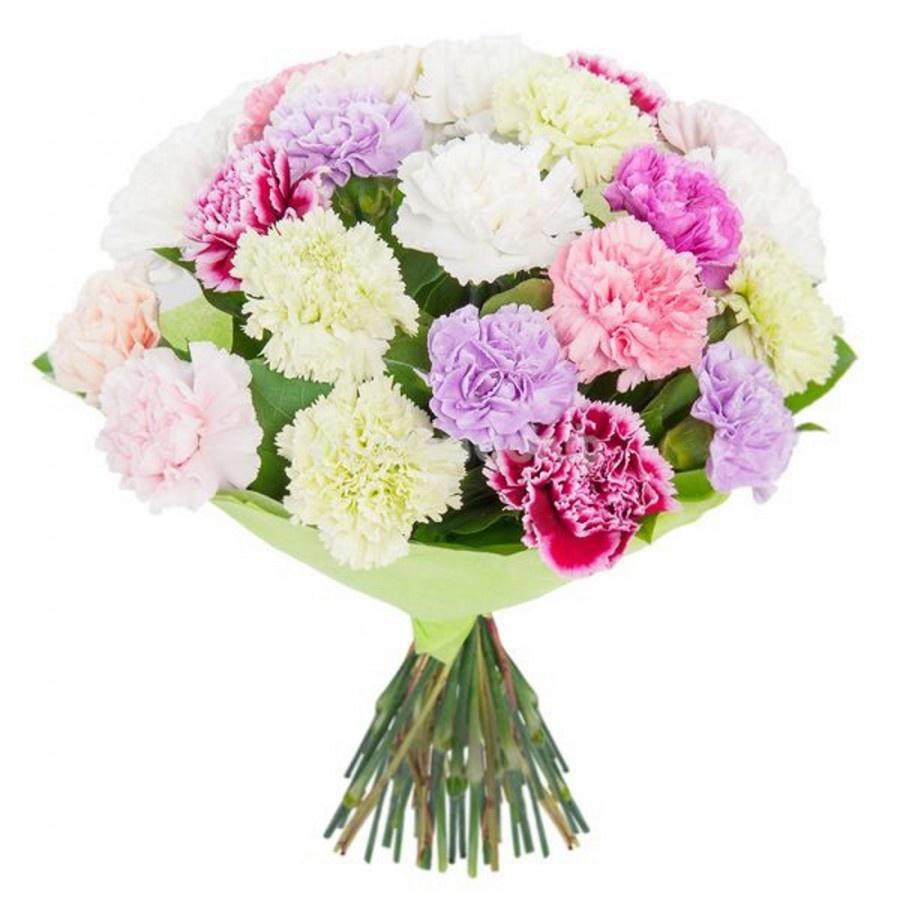 Красивые букет цветов из гвоздик фото