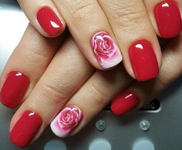 Дизайн ногтей с розами 2018 фото варианты