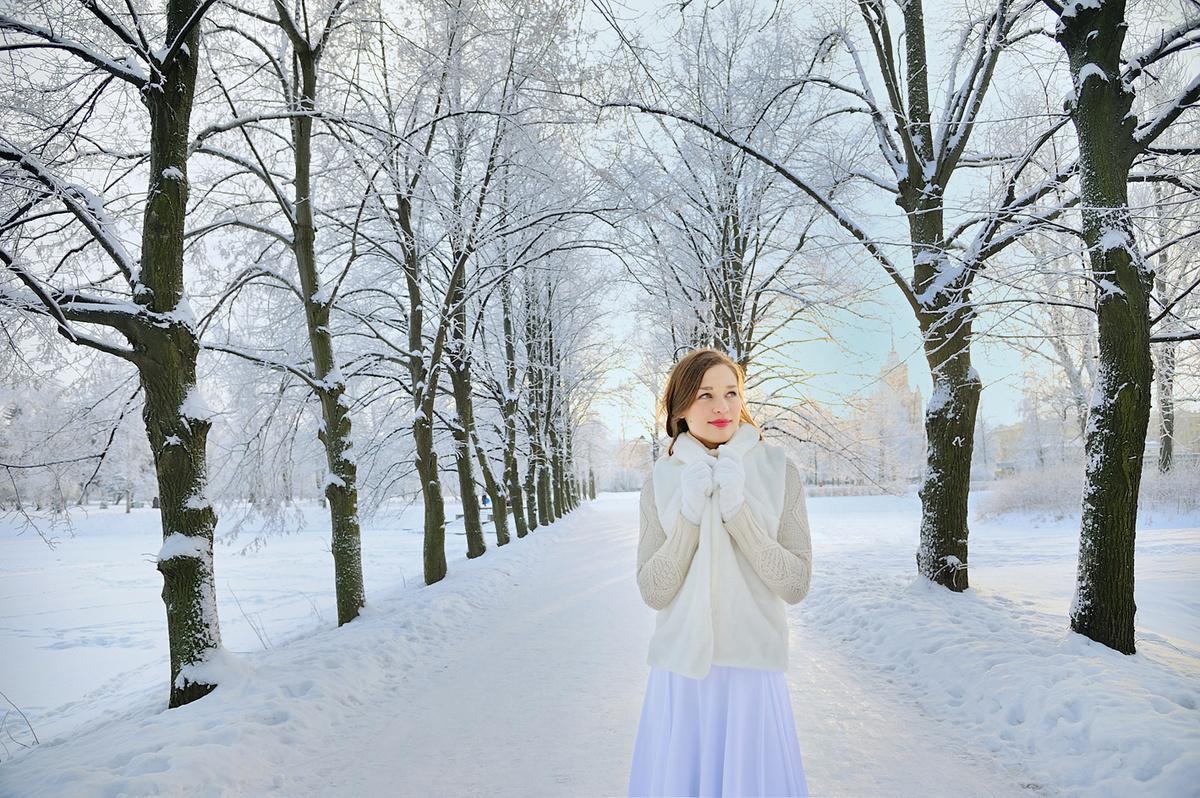 примеры фото в зимнем парке грани