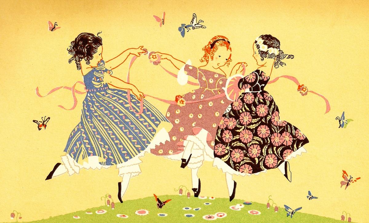 Люблю своих, картинка для открытки с танцем