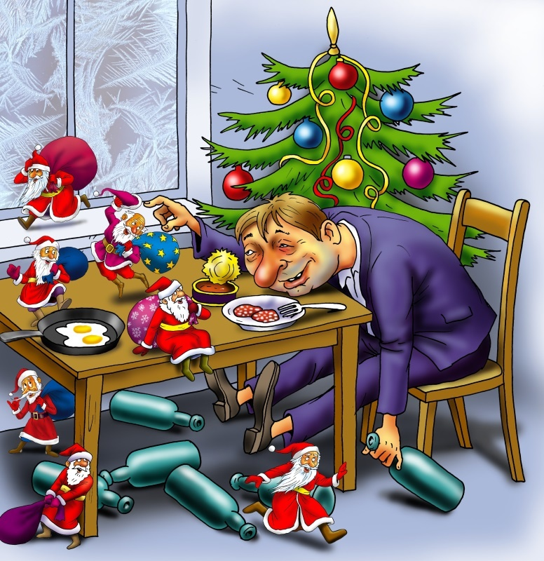 заместитель смешные картинки при новый год свое