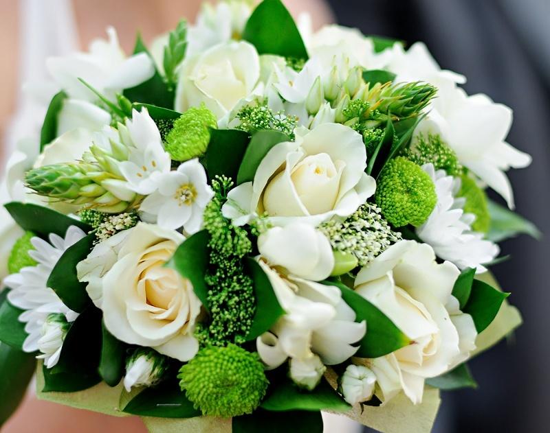 Свадебные букеты в зеленой гамме