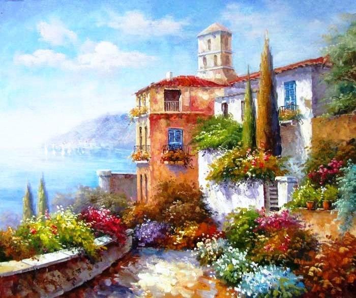 постер картины итальянские пейзажи находилась больнице