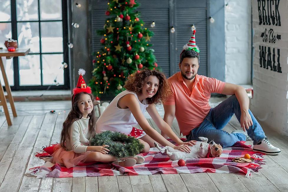 они как фотографировать семью дома на новый год френча