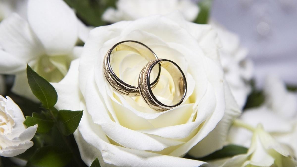 Открытки в день свадьбы на стол