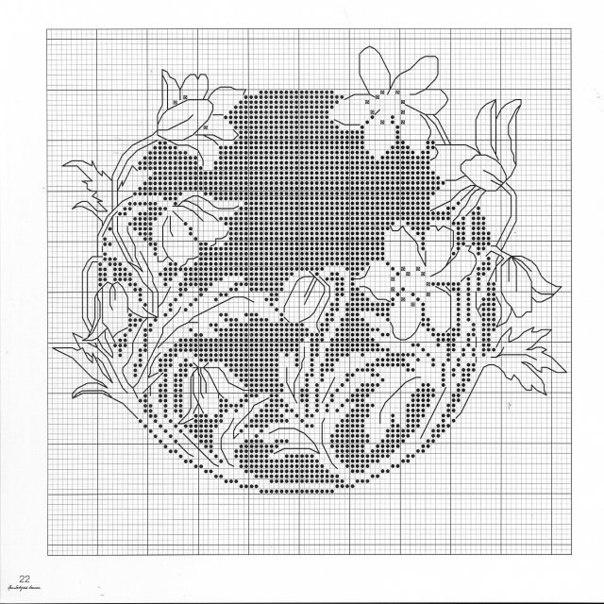 картин схема монохром вышивки