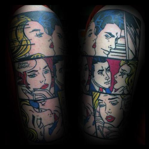 pop art tattoo tumblr - 500×501