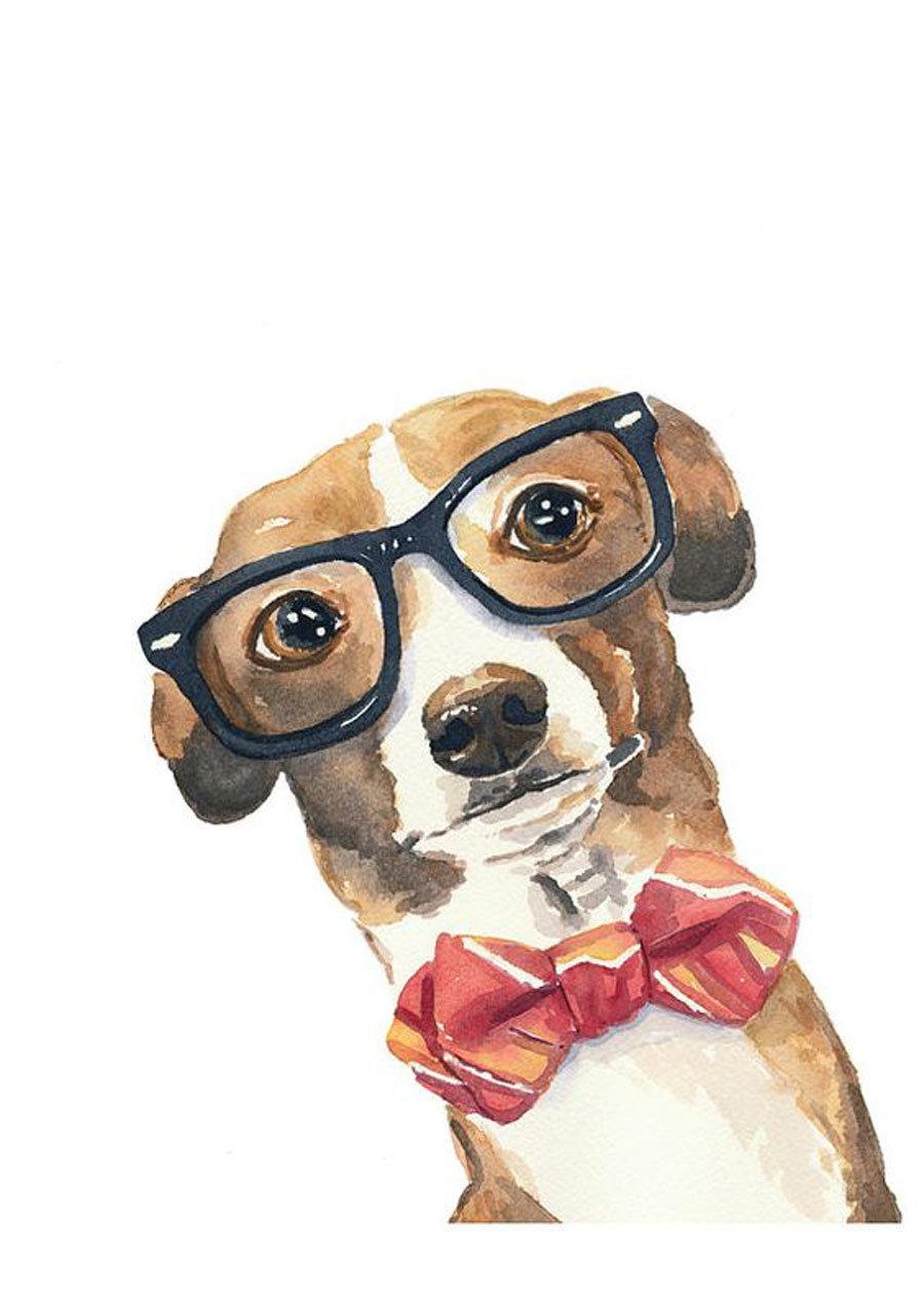 Днем, рисунок собачки смешной