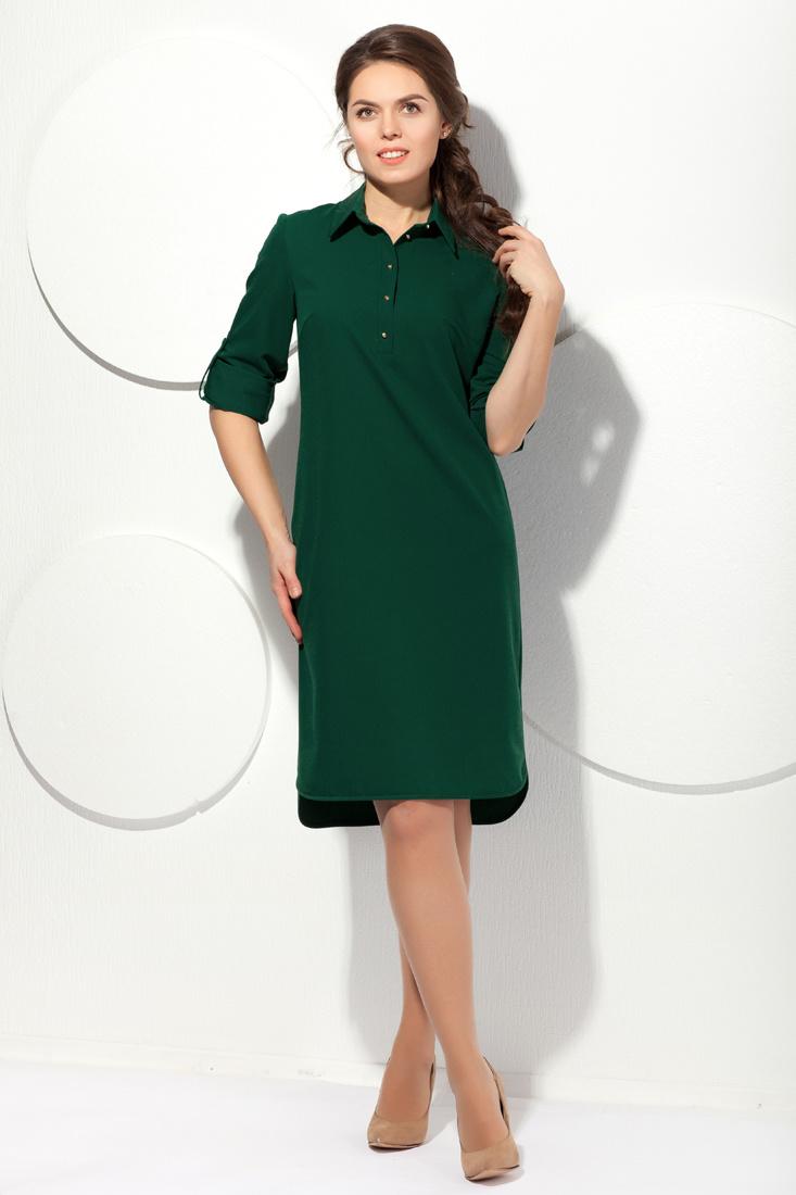 ff882495ae8 Темно-зеленое платье-рубашка» — карточка пользователя vita ...
