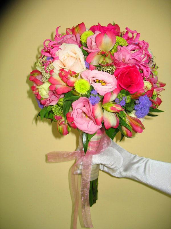 Букет мини, букет невесты альстромерия и розы