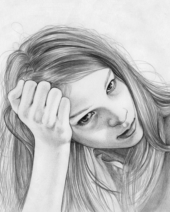 Красивые картинки простым карандашом девочки