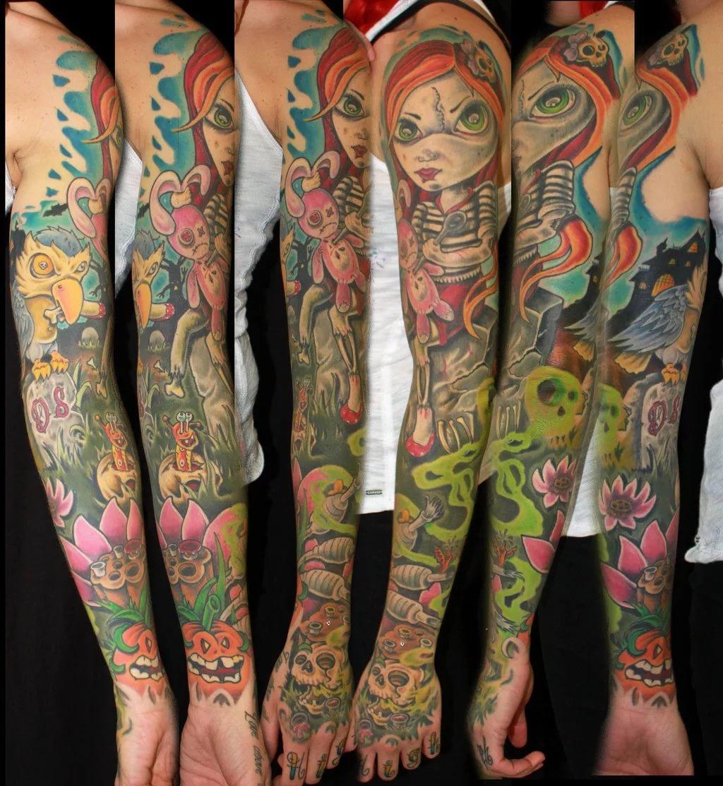 года практически разные тату цветные фото яркие