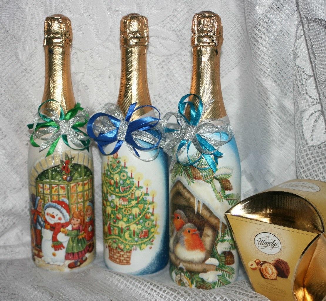 дешевая оформление шампанских бутылок в картинках этой странице