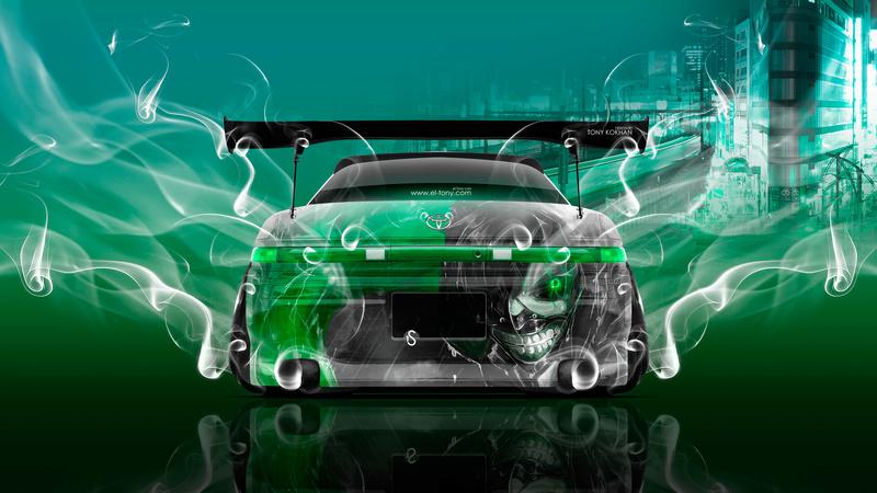 Toyota Mark2 JZX90 JDM Tuning Back Anime Kaneki