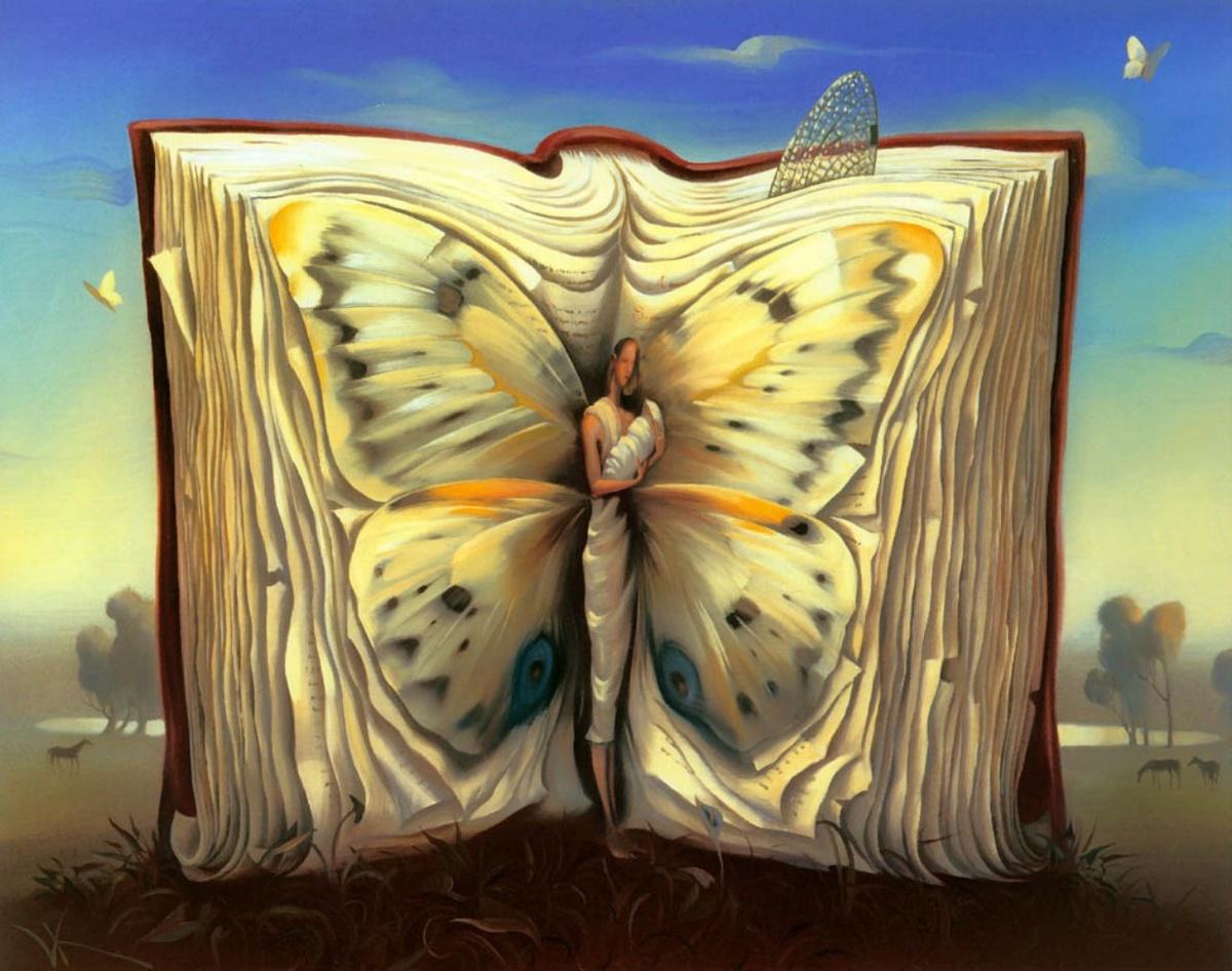 Трансформация в открытке, сердце