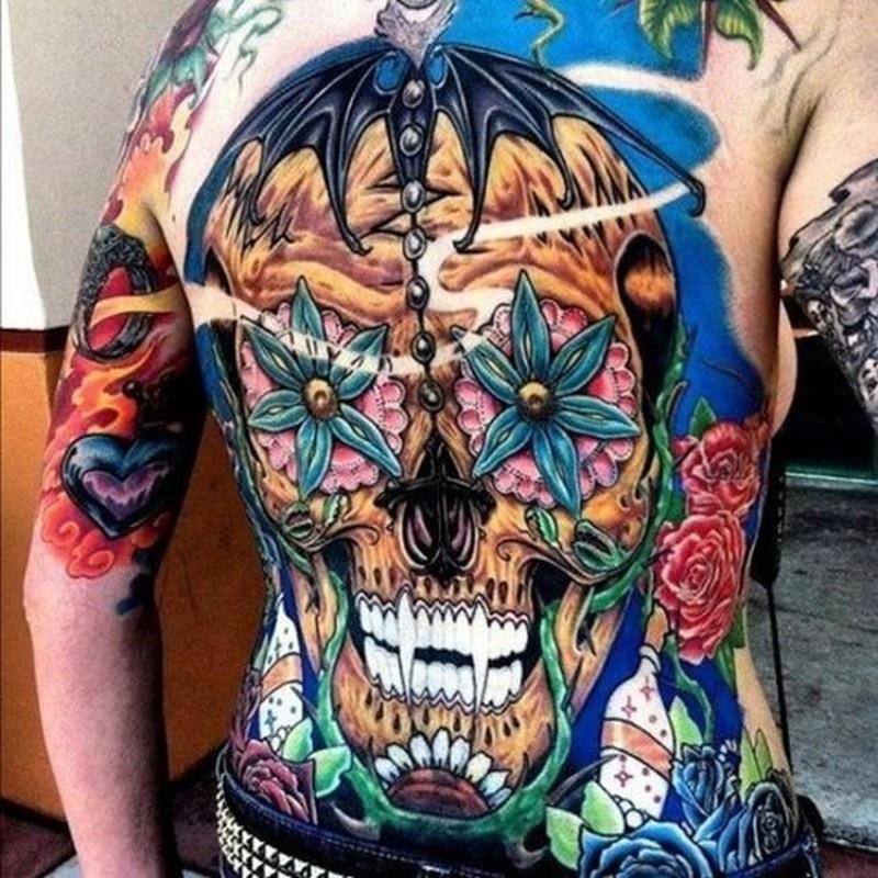 растение фото цветные тату на спине начала официальной