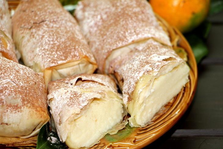Десерты из теста фило с фото