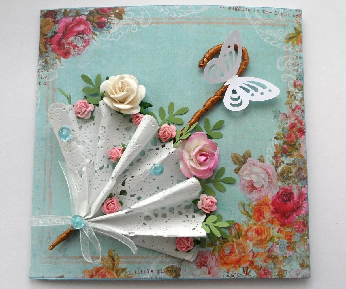 Красивые открытки с днем рождения женщине сделанные своими руками