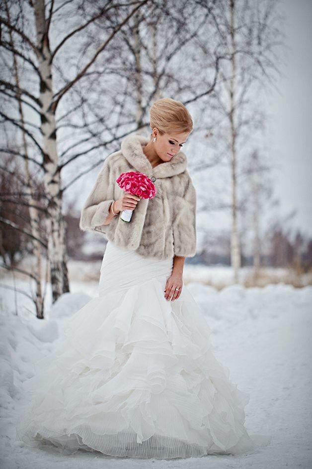 Свадебные платья для зимы картинки