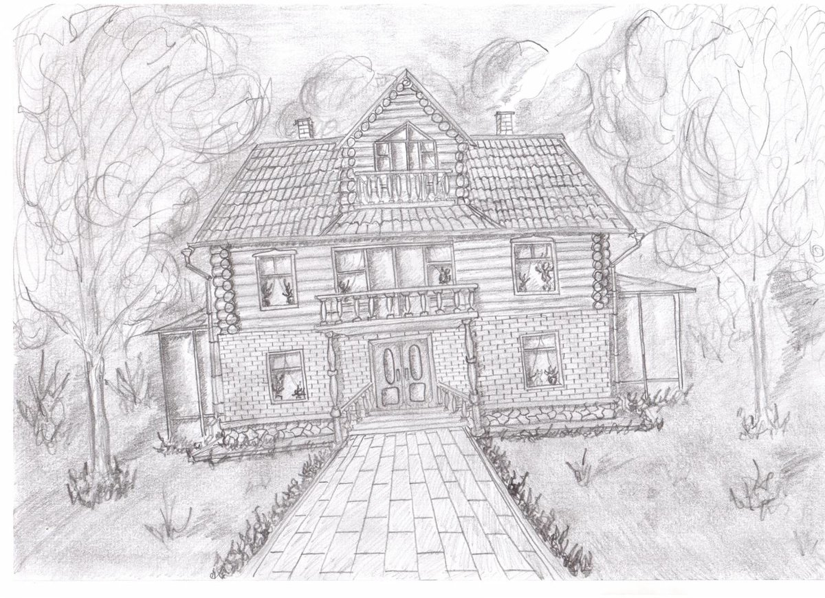 дом моей мечты картинки карандашом поэтапно нем твои мечты