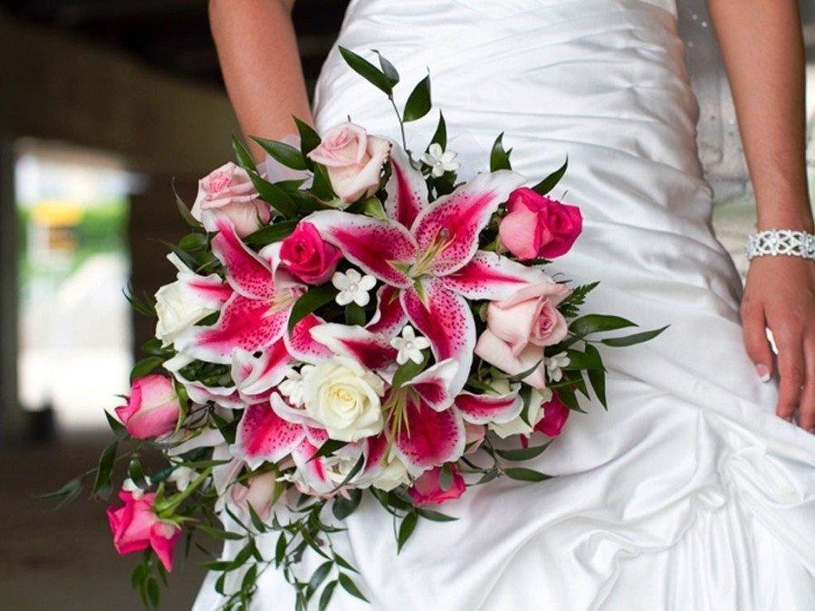 Букет невесты из лилий, для