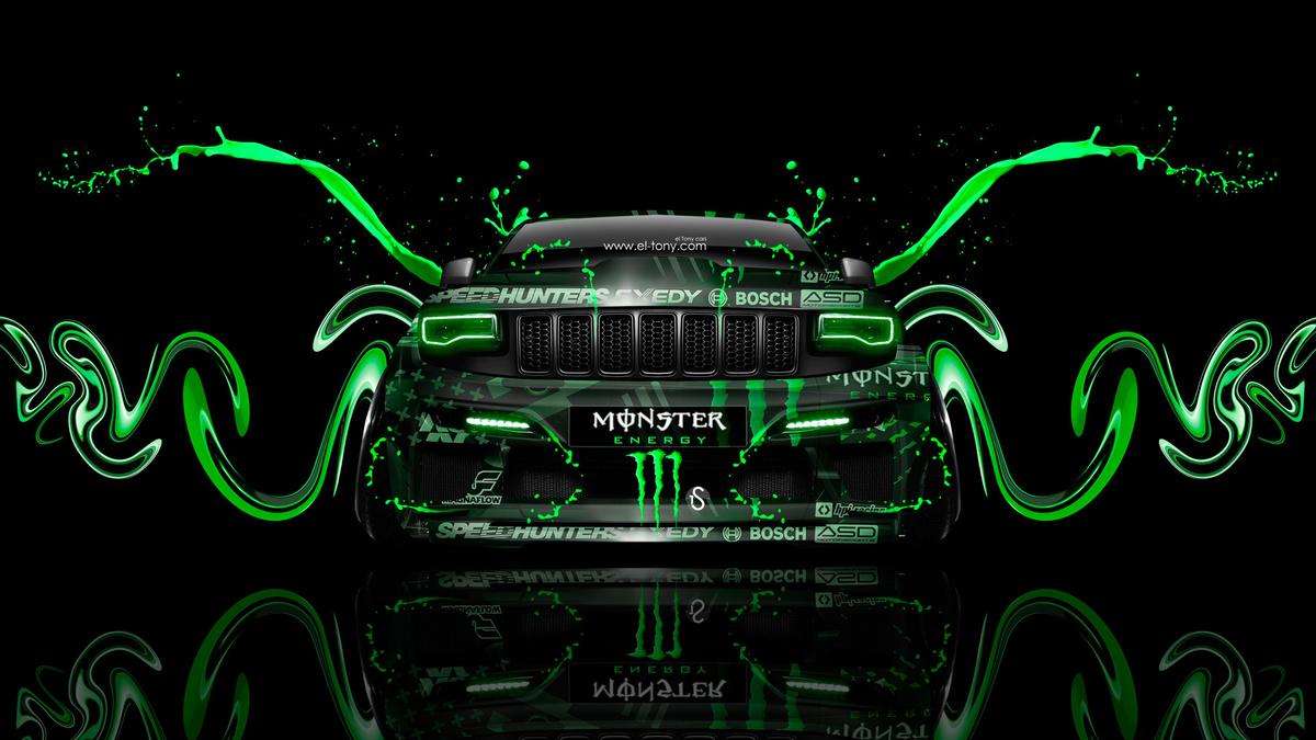 Monster Energy Jeep Grand Cherokee SRT8 Art Front