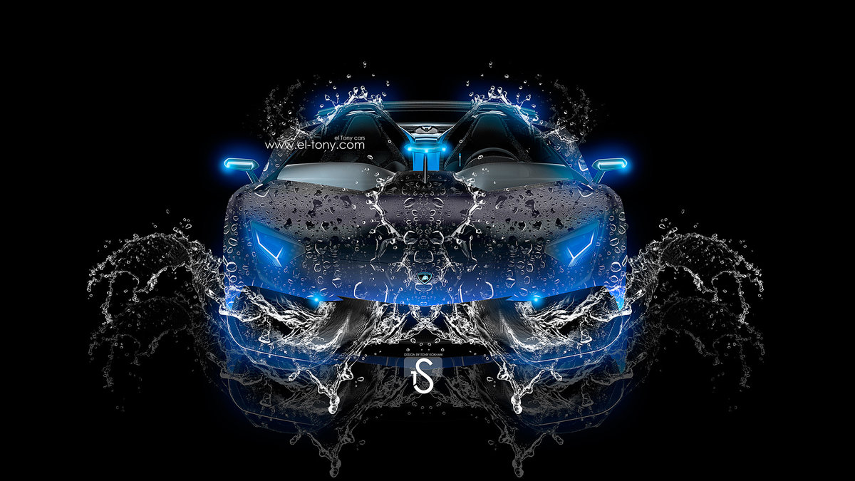 Lamborghini Aventador J Water Car 2013 Blue Neon Hd Wallpapers By