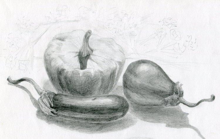 блин какой картинки фруктов и овощей рисовать карандашом боец брандао поведал